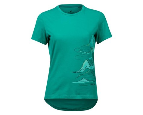Pearl Izumi Women's Mesa T-Shirt (Malachite Mountain Route) (XS)