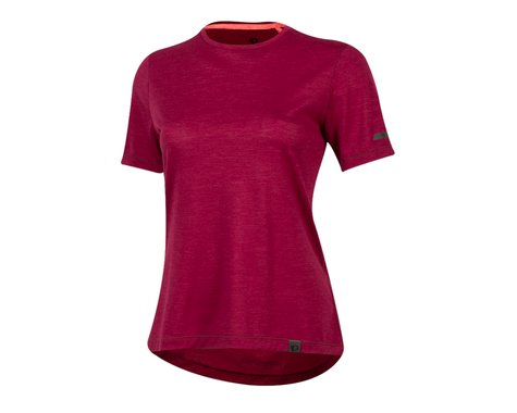 Pearl Izumi Women's BLVD Merino T Shirt (Beet Red) (XL)