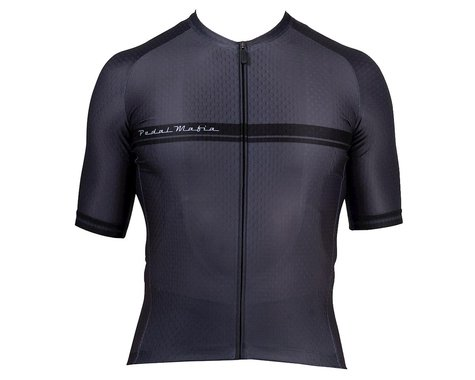 Pedal Mafia Men's Core Short Sleeve Jersey (Charcoal) (M)