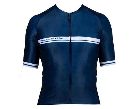 Pedal Mafia Men's Core Short Sleeve Jersey (Navy) (S)