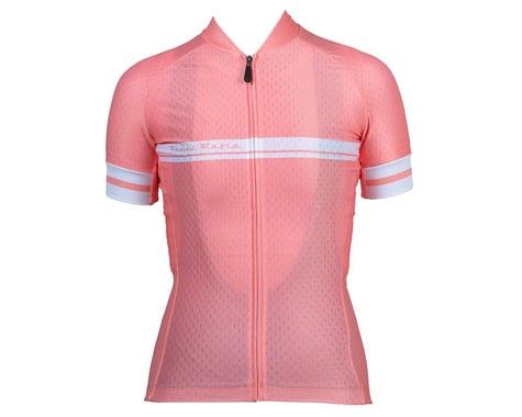 Pedal Mafia Women's Core Short Sleeve Jersey (Coral Peach) (M)