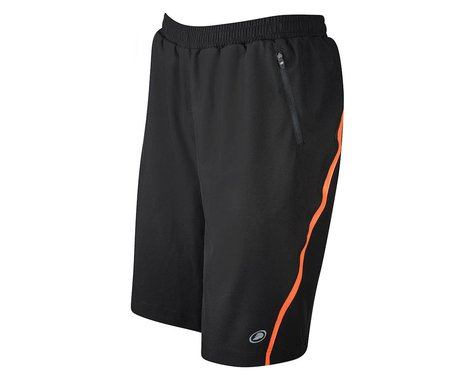 Performance Sport Shorts with Liner (Black/Orange)