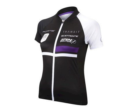 Performance Women's Elite Team Short Sleeve Jersey (Black/White)