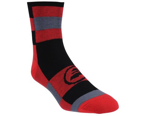 Performance Checkered Ankle Socks (Black/Red)
