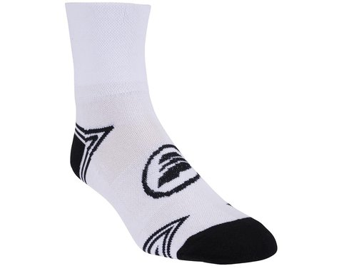 Performance Triangle Ankle Socks (Matte White/Black)