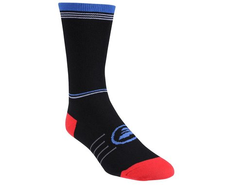 Performance Horizontal Stripe Tall Socks (Matte Black/Red/Blue)
