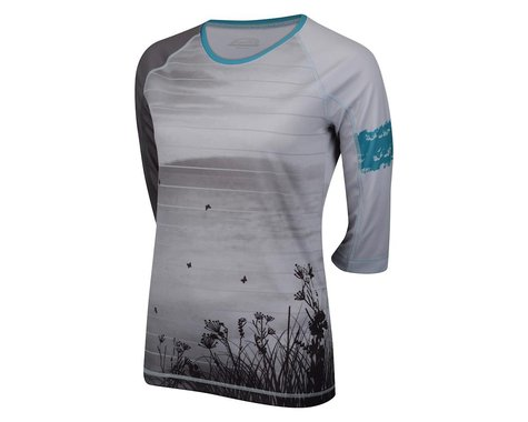 Performance Women's Ridgeline 3/4 Sleeve Jersey (Grey/Blue)