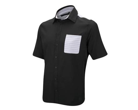 CHCB James Woven Button Up Short Sleeve Jersey (Black/Grey) (Xxlarge)