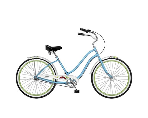 "Phat Cycles Phat Melodie 26"" 3-Speed Step-Through Beach Cruiser (White)"