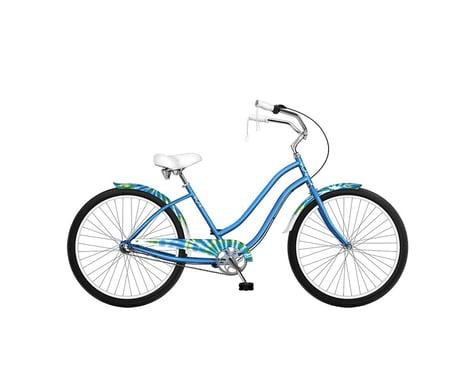 """Phat Cycles Tie-Dye 26"""" Step-Through Beach Cruiser - 3 Speed (Aqua)"""