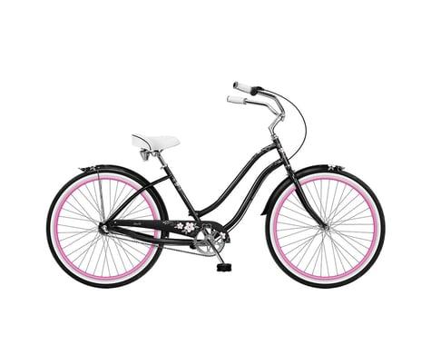"Phat Cycles Phat Sachi 26"" 3-Speed Step-Through Beach Cruiser (Black)"