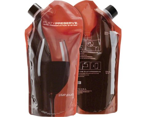 Platypus PlatyPreserve 800ml Wine Bottle w/ Closure Cap (Red) (27oz)