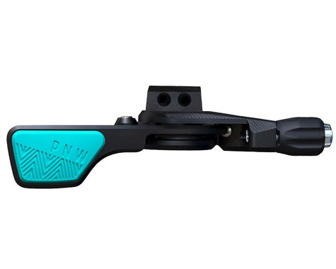 PNW Components Loam Lever Dropper Post Lever Kit (Black/Teal) (I-Spec EV)