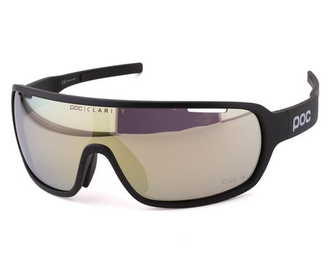 POC Do Blade Sunglasses (Uranium Black) (Gold Mirror Lens)