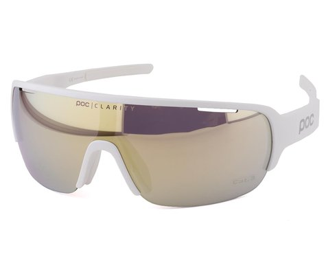 POC Do Half Blade Sunglasses (Hydrogen White) (Gold Mirror Lens)