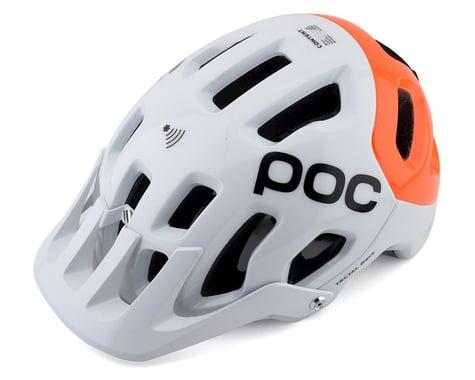 POC Tectal Race SPIN NFC Helmet (Hydrogen White/Fluorescent Orange AVIP) (XL/XXL)