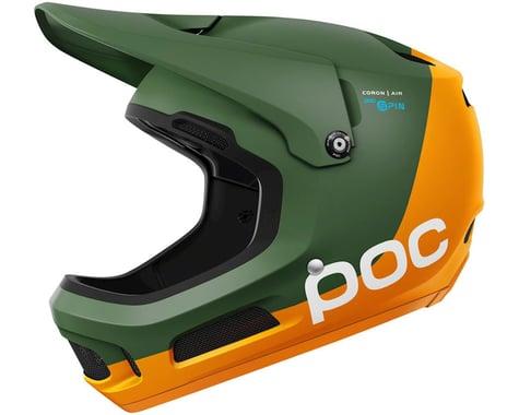 Poc Coron Air SPIN Full-Face Helmet (Zink Orange/Forest Green)