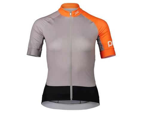Poc Women's Essential Road Short Sleeve Jersey (Granite Grey/Zink Orange)