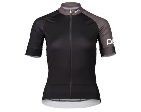 Poc Women's Essential Road Short Sleeve Jersey (Uranium Black/Sylvanite Grey) (XS)