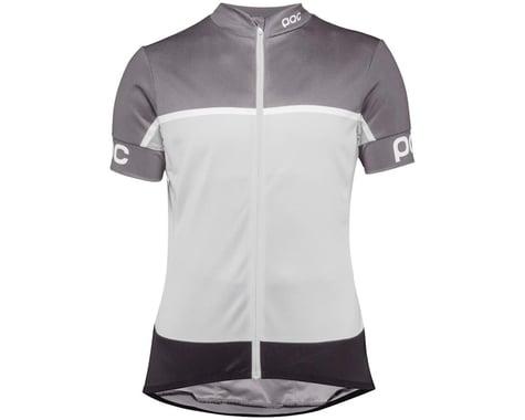 Poc Essential Road Women's Short Sleeve Jersey (Uranium Black/Bareelene Gray) (L)