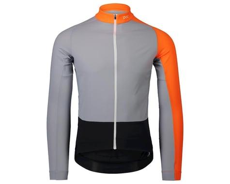 POC Essential Road Mid Long Sleeve Jersey (Granite Grey/Zink Orange) (M)