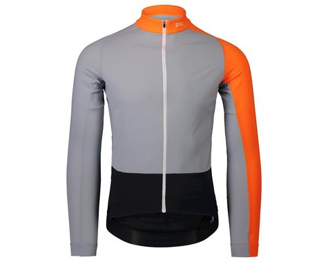POC Essential Road Mid Long Sleeve Jersey (Granite Grey/Zink Orange) (S)