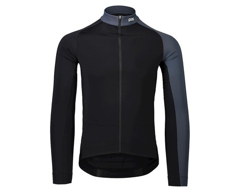 POC Essential Road Mid Long Sleeve Jersey (Uranium Black/Sylvanite Grey) (M)