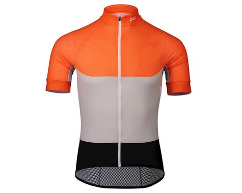 Poc Essential Road Light Short Sleeve Jersey (Granite Grey/Zink Orange) (S)