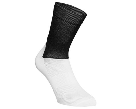 POC Essential Road Sock (Uranium Black/Hydrogen White) (L)