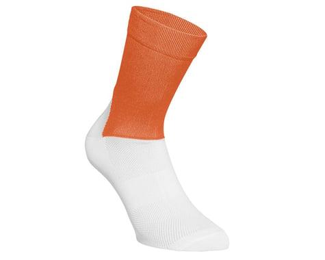POC Essential Road Sock (Zink Orange/Hydrogen White) (L)
