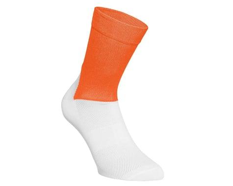 POC Essential Road Sock (Zink Orange/Hydrogen White) (S)