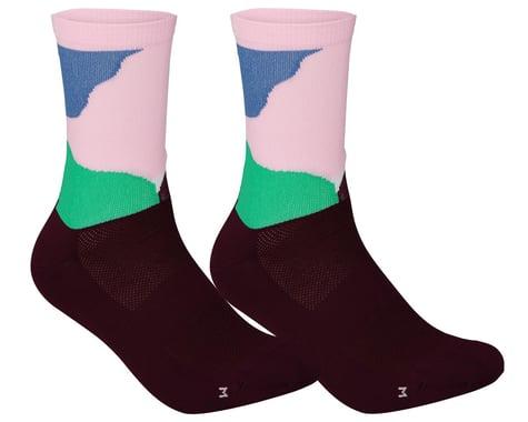 POC Essential Print Sock (Color Splashes Multi Opal/Basalt) (L)