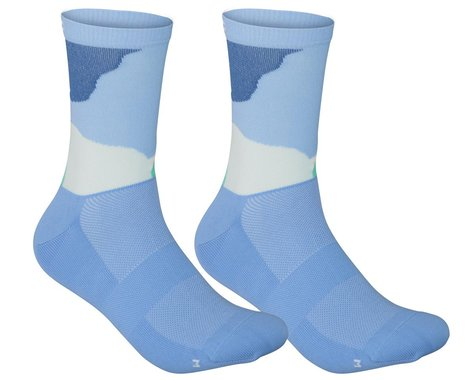 POC Essential Print Sock (Color Splashes Multi Basalt Blue) (L)