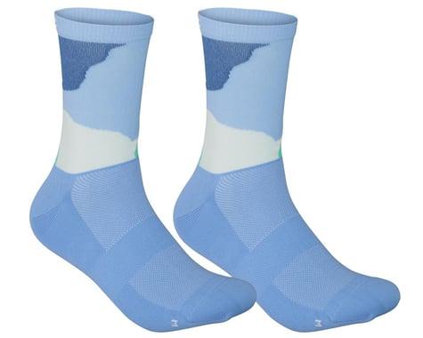 POC Essential Print Sock (Color Splashes Multi Basalt Blue) (S)