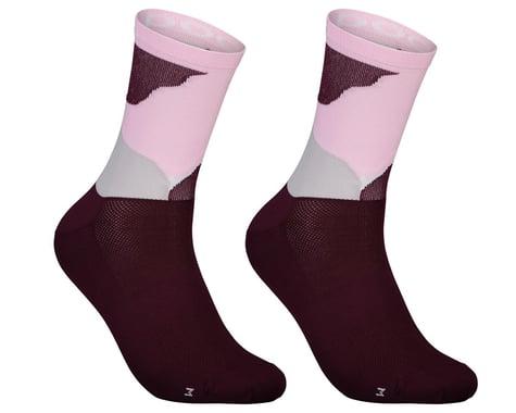 POC Essential Print Sock (Color Splashes Multi Propylene Red) (L)