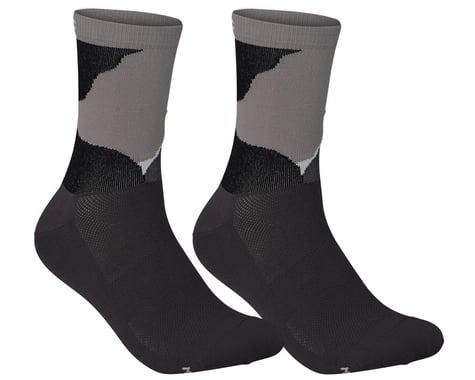 POC Essential Print Sock (Color Splashes Multi Sylvanite Grey) (L)