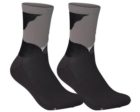 POC Essential Print Sock (Color Splashes Multi Sylvanite Grey) (S)