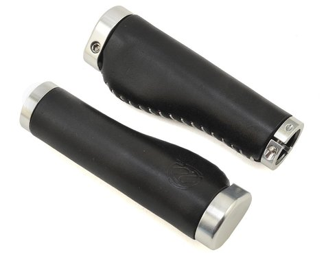 Portland Design Works Whiskey Lock-On Grips (Black/Silver Clamp)