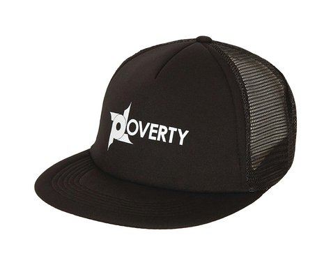 Poverty Trucker Snapback Hat (Black) (One Size Fits Most)