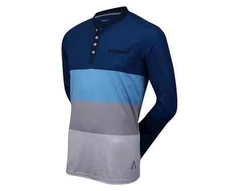 Primal Wear Monochrome Blue Henley Long Sleeve Jersey (Blue)