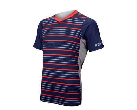 Primal Wear Grade Short Sleeve Mountain Bike Jersey (Blue/Red)