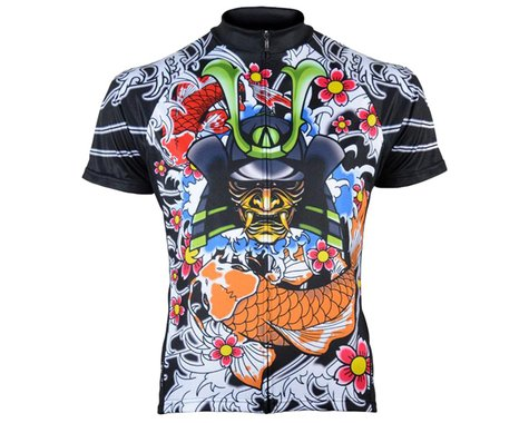 Primal Wear Men's Short Sleeve Jersey (Japanese Warrior) (L)