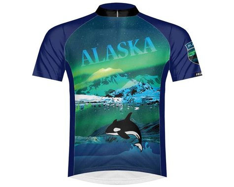 Primal Wear Men's Short Sleeve Jersey (The Last Frontier Alaska) (2XL)