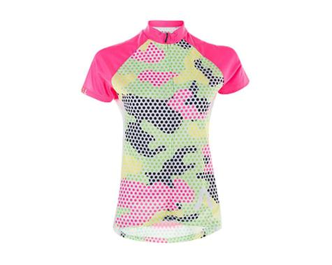 Primal Wear Mishmesh Women's Jersey (Green/Pink/Camo Print)