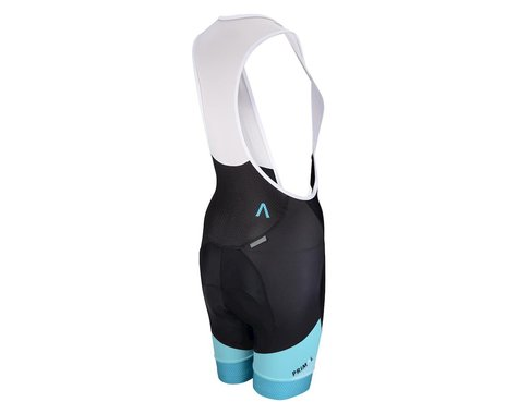 Primal Wear Women's Sound Barrier Helix Bib Shorts (Black/Aqua) (Xxlarge)