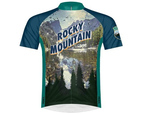 Primal Wear Men's Short Sleeve Jersey (Rocky Mountain National Park) (L)