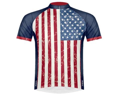 Primal Wear Men's Short Sleeve Jersey (Stars & Stripes) (2XL)