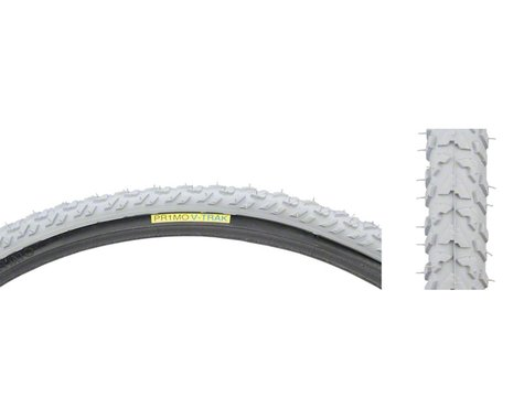 Primo Wheelchair Tire - 24 x 1 3/8, Clincher, Wire, Gray/Black