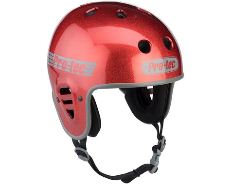 Pro-Tec Full Cut Helmet - Red Flake, Medium (M)