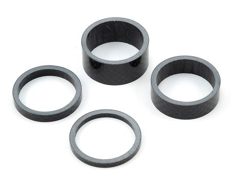 "Pro 1 1/8"" Carbon Headset Spacer Set (3mm, 5mm, 10mm, 15mm)"